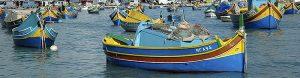 Luzzu, el barco tradicional de pesca maltes.