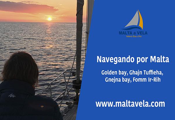 En barco por Malta