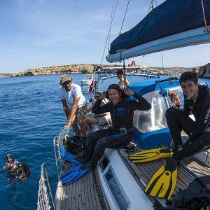 Buceo en Malta, barco