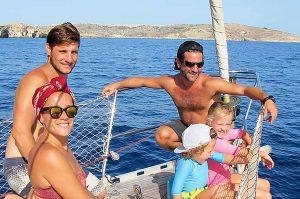 Malta, salida en barco en familia