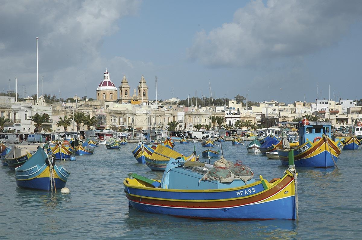 Mercado del pescado en Marsaxlokk