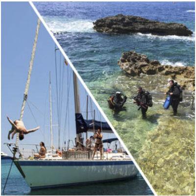 Sailing and diving